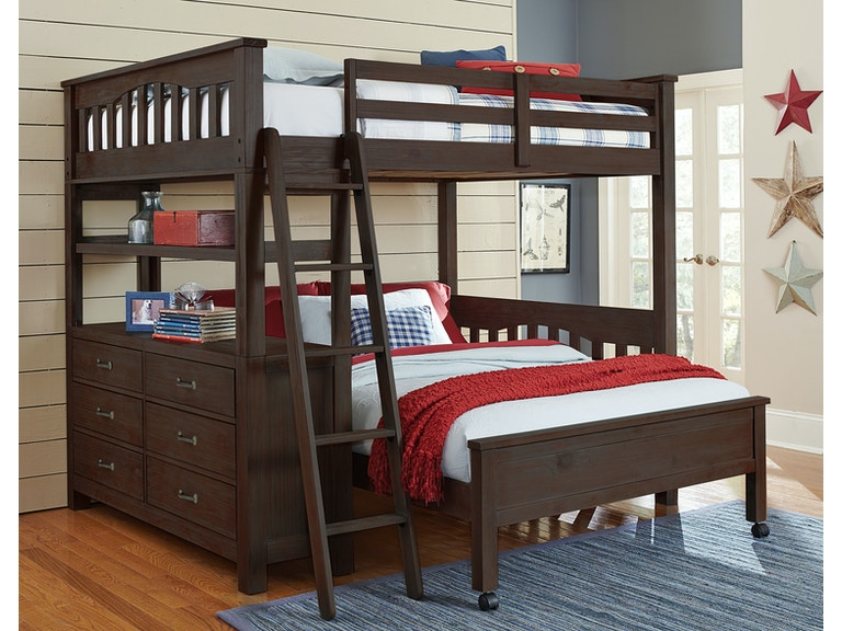 Hillsdale Kids And Teen Youth Highlands Full Loft Bed With Full