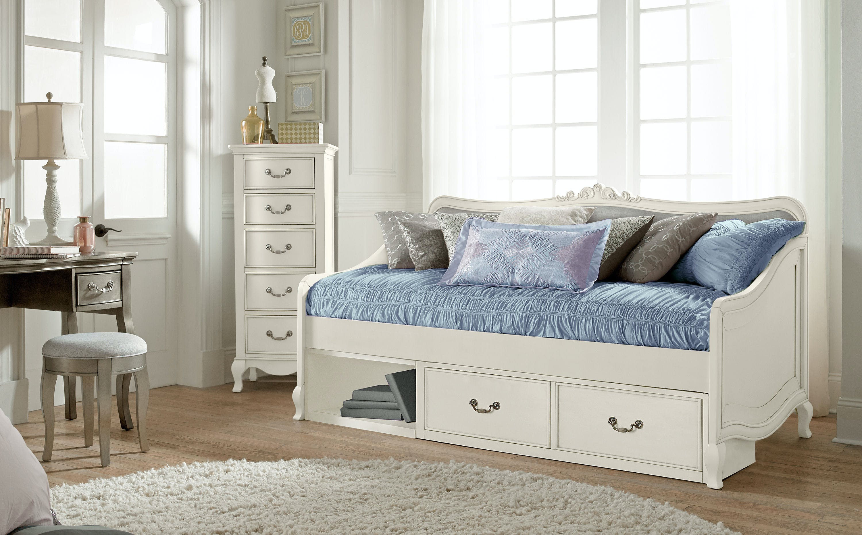 Hillsdale Kids And Teen Youth Kensington Elizabeth Daybed With Storage 20040ns Turner Furniture
