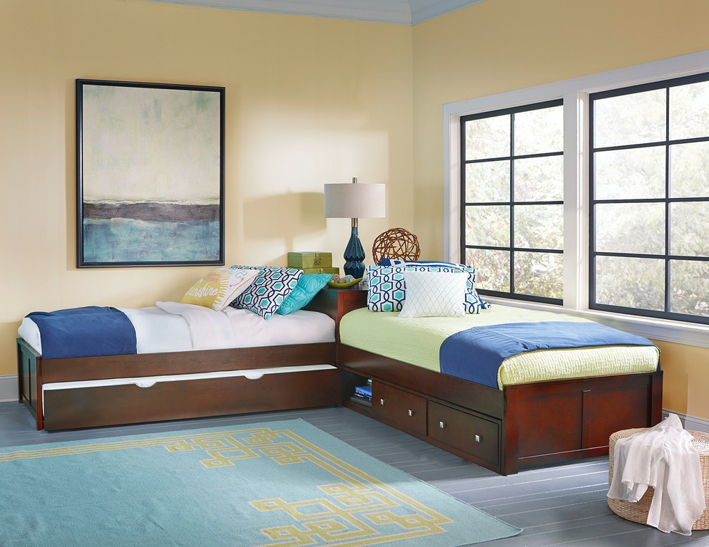 Hillsdale Kids And Teen Youth Pulse L Shaped Bed With Storage And Trundle 31051nst Bennington