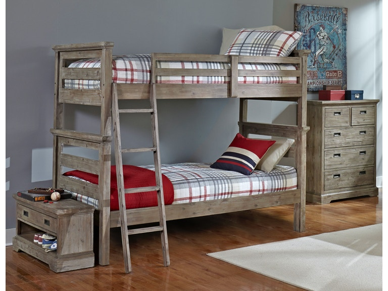 Hillsdale Kids And Teen Youth Oxford Oliver Twin Over Twin Bunk Bed