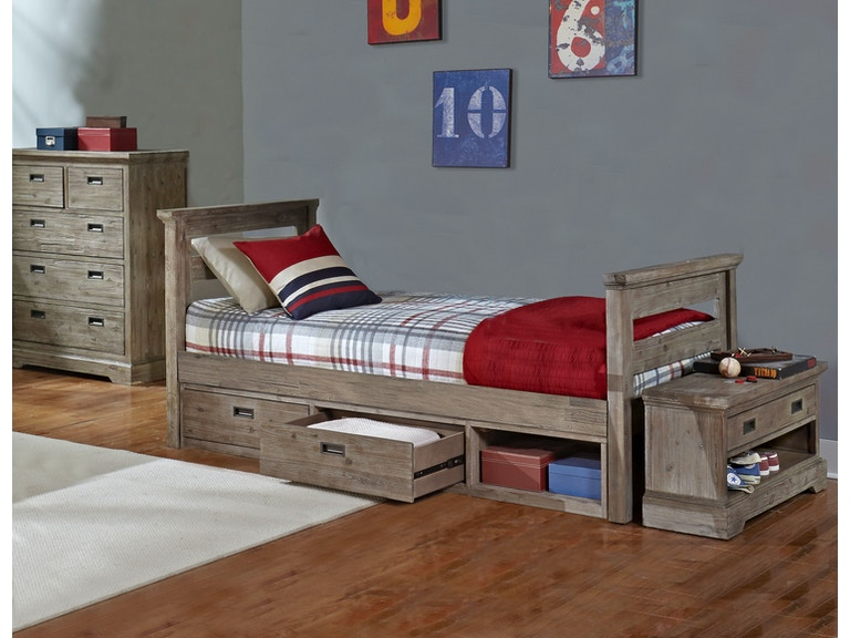 Hillsdale Kids And Teen Youth Oxford Oliver Twin Bed With Storage