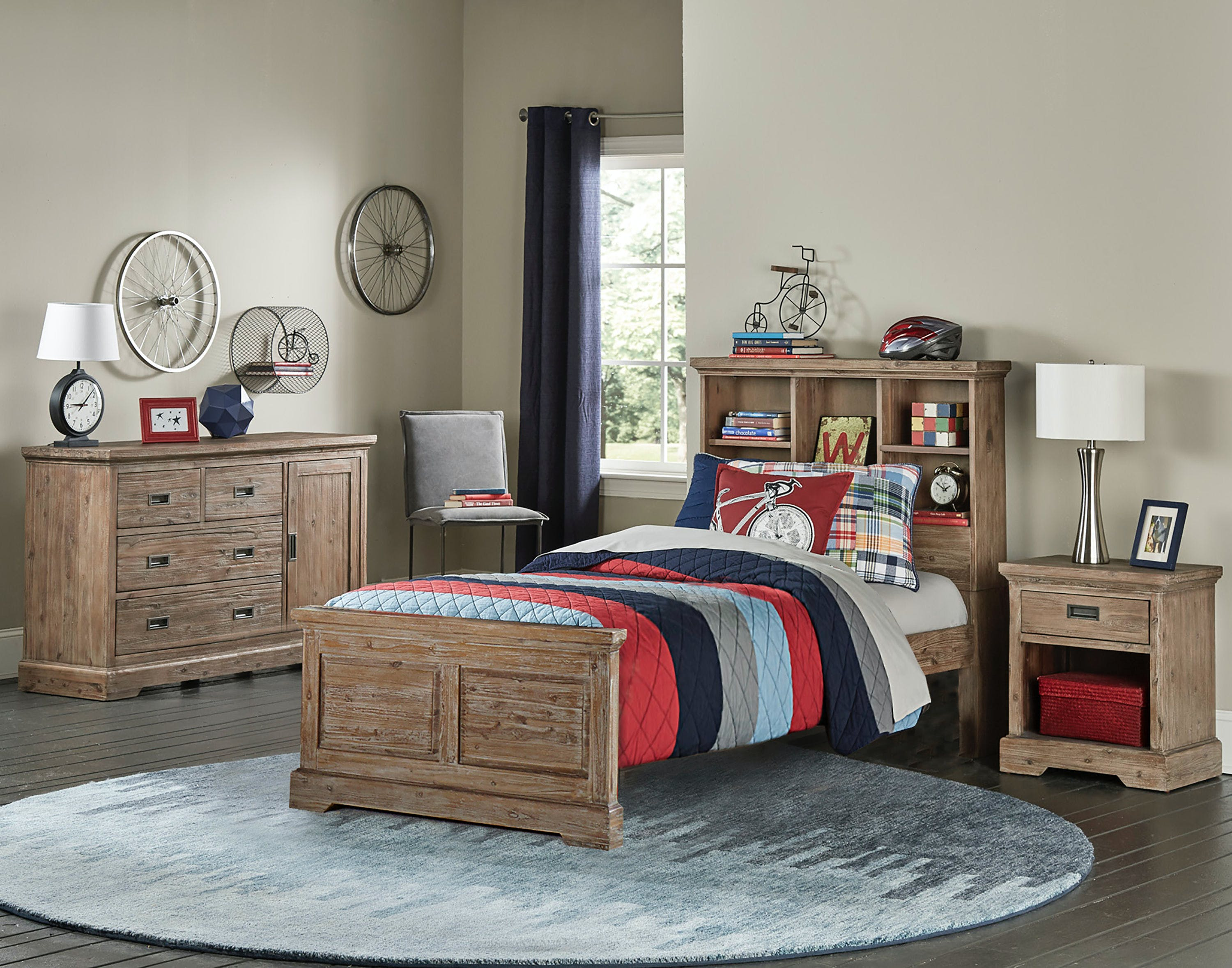 Hillsdale Kids And Teen Youth Oxford Bookcase Twin Bed With