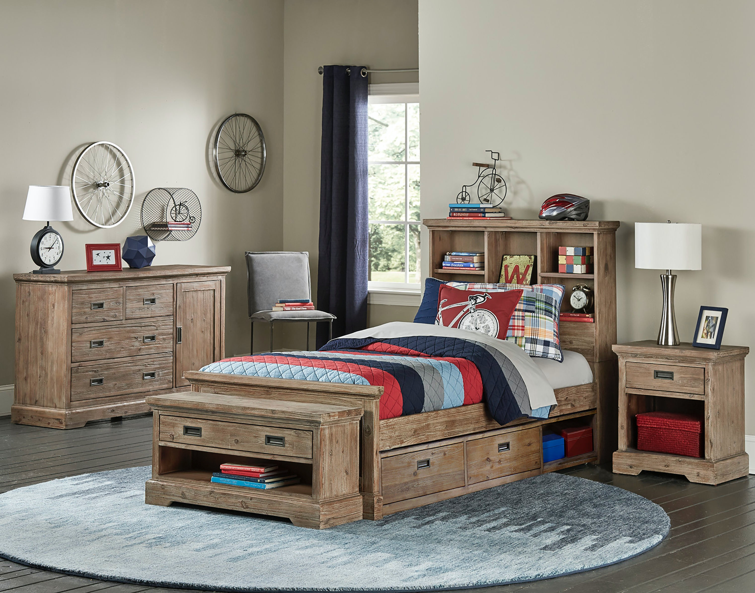 Hillsdale Kids And Teen Oxford Bookcase Twin Bed With Storage 7104 370NS