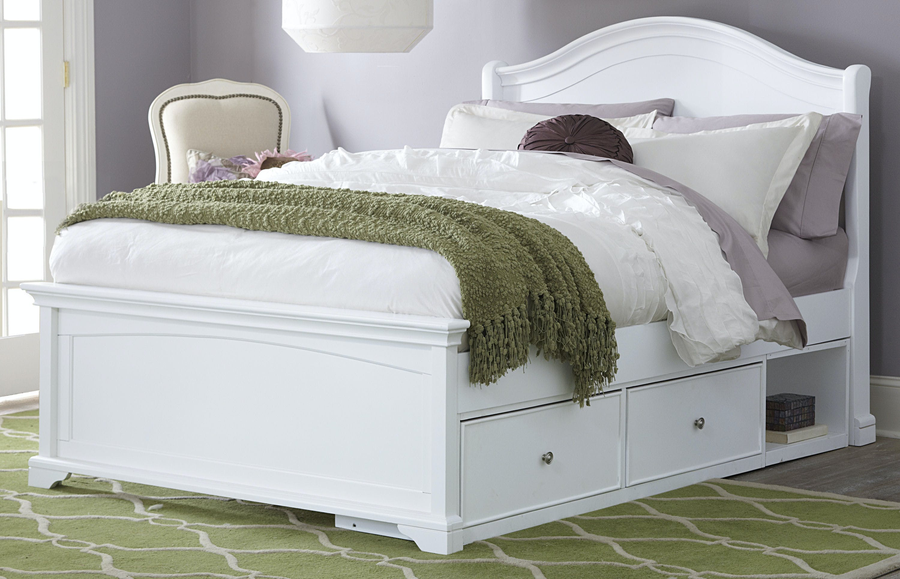 Hillsdale Kids And Teen Youth Walnut Street Full Morgan Arch Bed W Storage 8015ns Turner