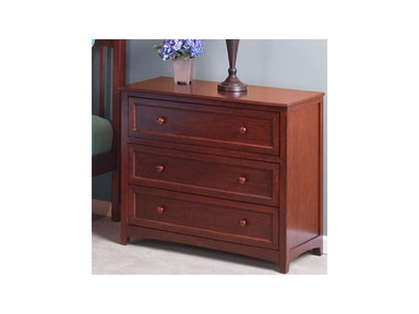 Hillsdale Kids and Teen Schoolhouse Cherry 3 Drawer Chest 4525