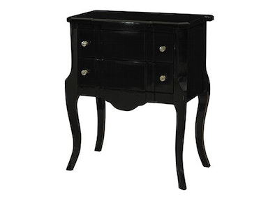 Powell Furniture Black High Gloss Console 119-333