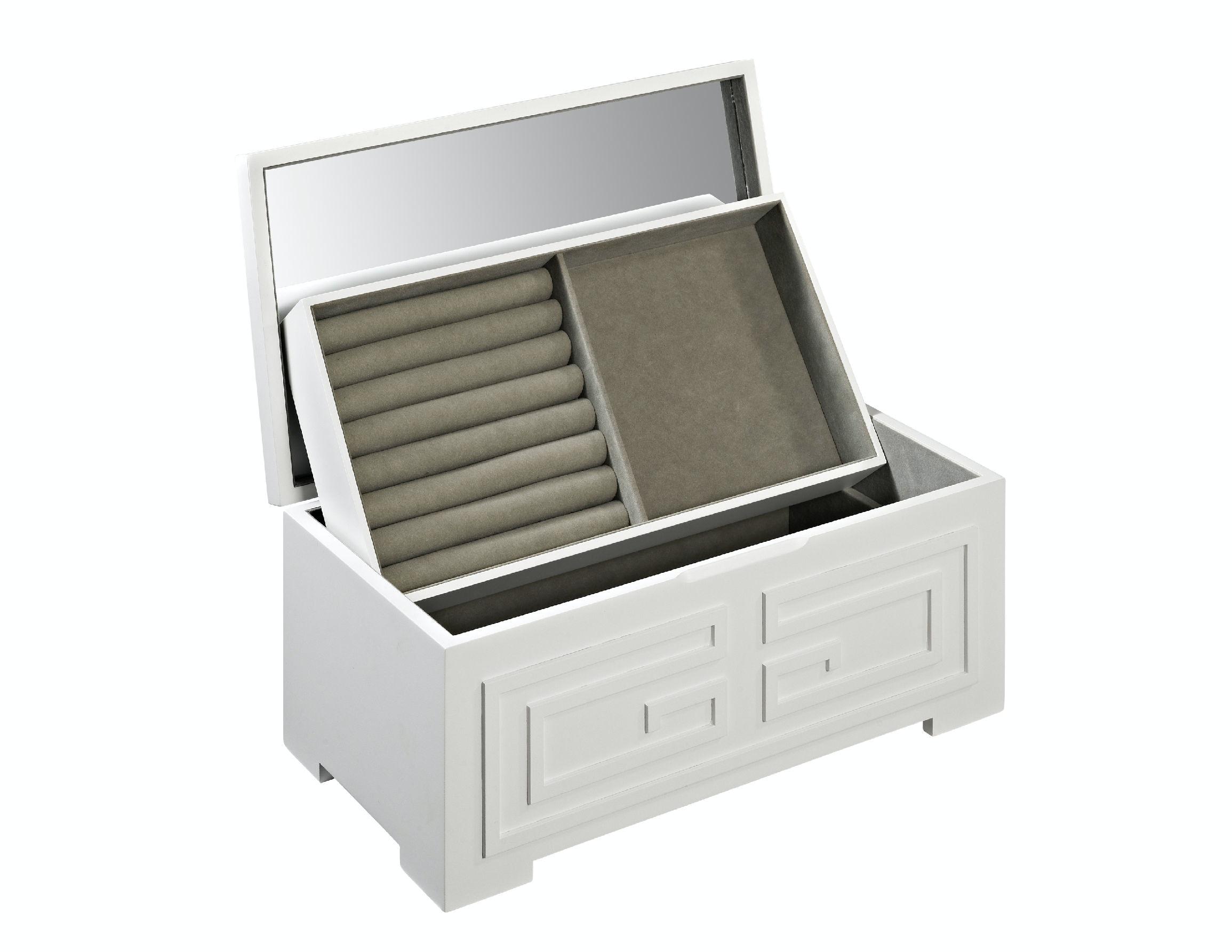 Powell Furniture Enna White Jewelry Box 126 J110