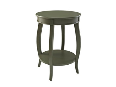 Powell Furniture Grey Round Table with Shelf 141-350