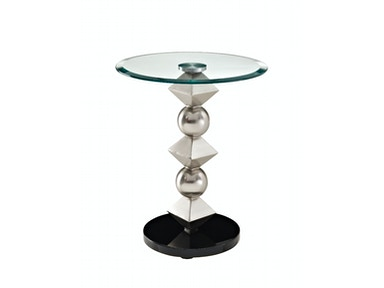 Powell Furniture Metal and Glass Table Round Top 146-351