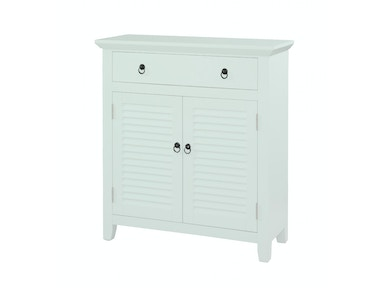 Powell Furniture White Shutter Console 14A2004
