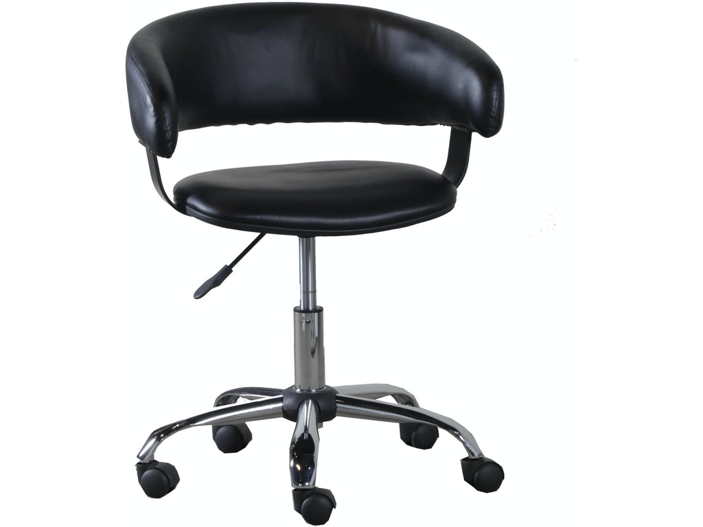 Powell Furniture Home Office Black Gas Lift Desk Chair