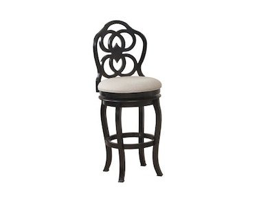 Powell Furniture Big And Tall Black Wood Scroll Counter Stool 14B8048BS
