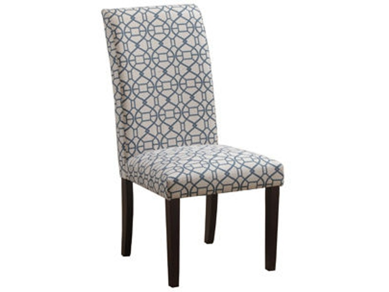 Powell Furniture Dining Room Blue Parson Chair 14D2023BL ...