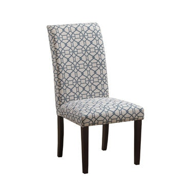 Powell Furniture Blue Parson Chair 14D2023BL