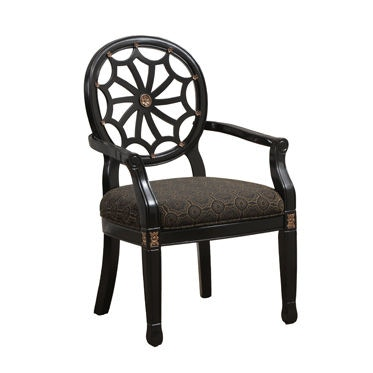 Attractive Powell Furniture Living Room Black Spider Back Chair