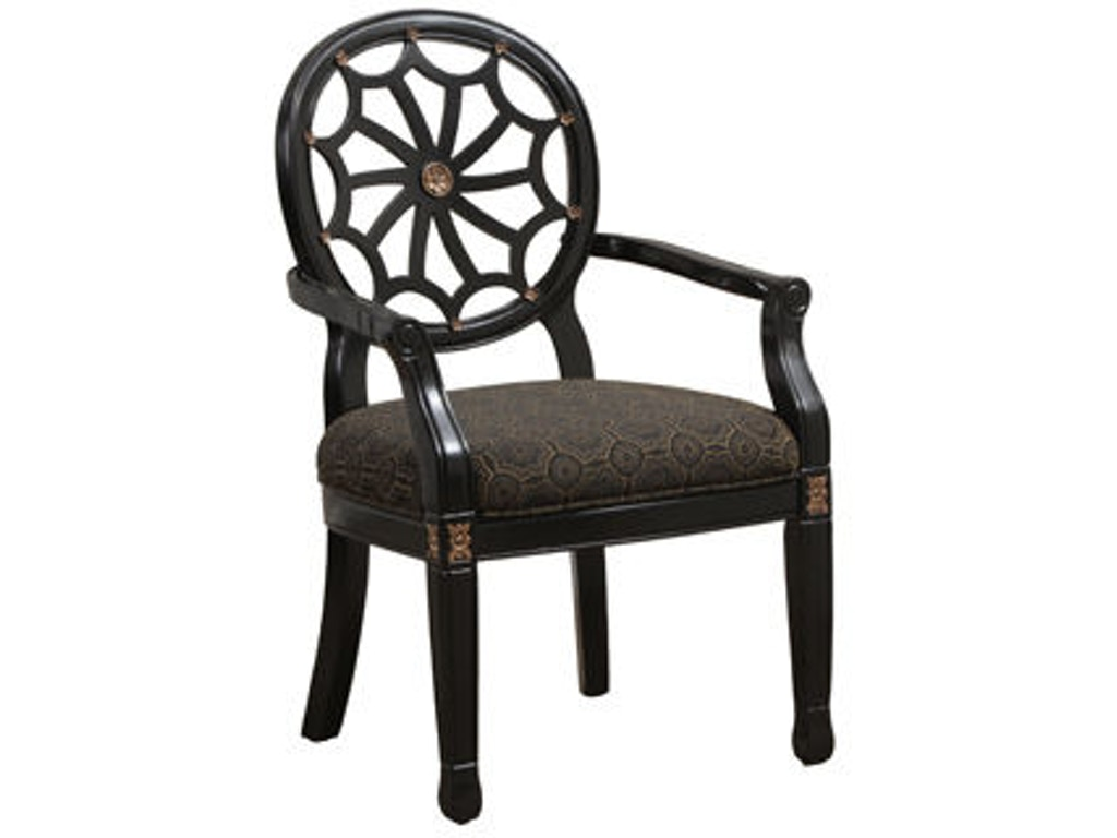 Powell Furniture Living Room Black Spider Back Chair