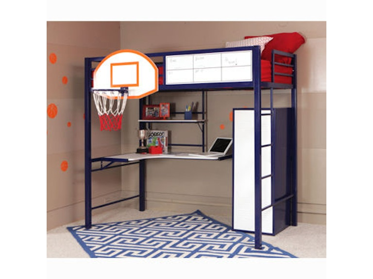 Powell Furniture Youth Hoops Metal Basketball Bed 14y2002