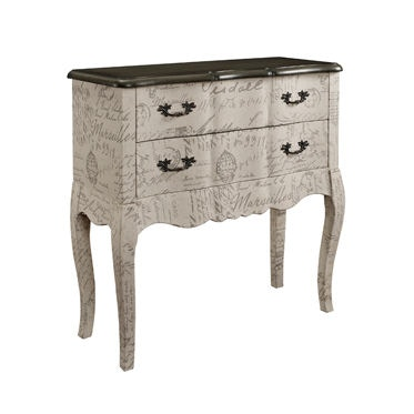 Powell Furniture 2 Drawer Chest With Fabric 156 394A