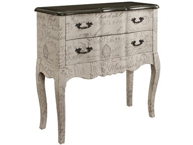 Powell Furniture 2 Drawer Chest with Fabric 156-394A