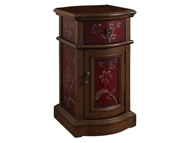 Powell Furniture Red Chairside Storage Cabinet 163-222