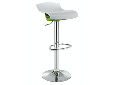Powell Furniture White and Lime ABS Stool 171-456