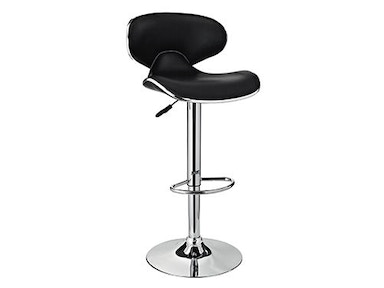 Powell Furniture Chrome and Black PU Barstool 171-890