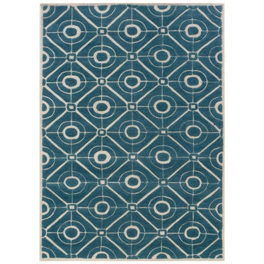 Powell Furniture Bombay Contort Teal Rug