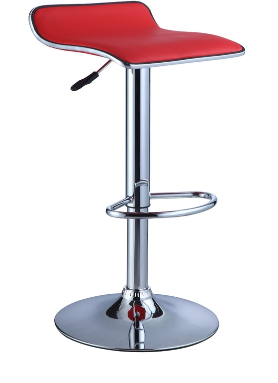 Enjoyable Powell Furniture Bar And Game Room Red Faux Leather Chrome Uwap Interior Chair Design Uwaporg