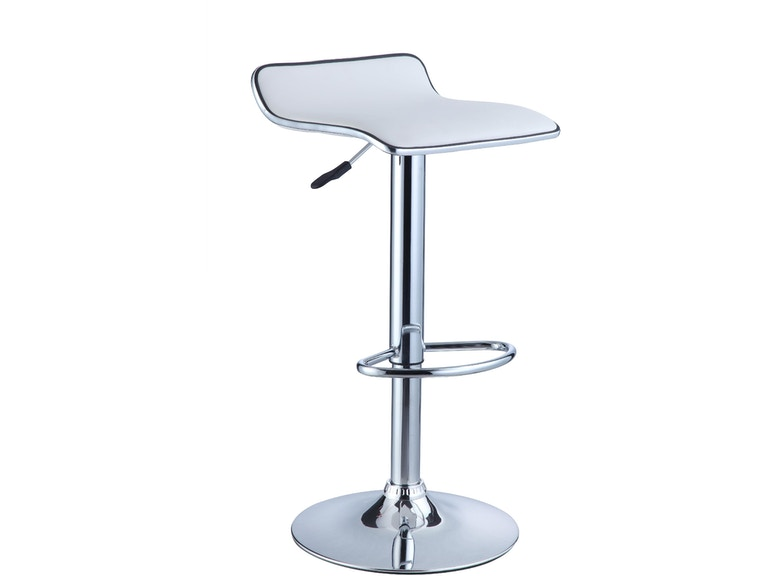 Astounding Powell Furniture Bar And Game Room White Faux Leather Chrome Unemploymentrelief Wooden Chair Designs For Living Room Unemploymentrelieforg