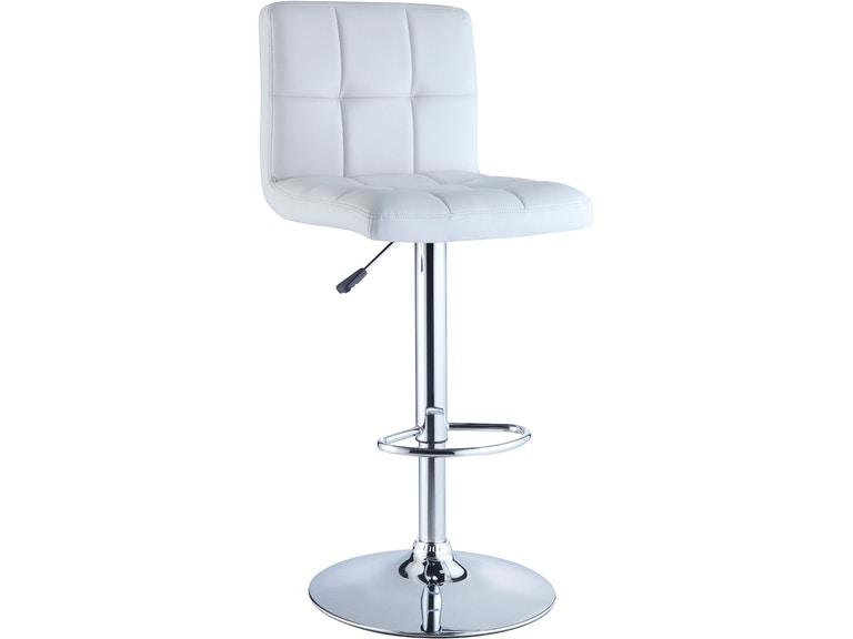 Awesome Powell Furniture Bar And Game Room White Quilted Faux Caraccident5 Cool Chair Designs And Ideas Caraccident5Info