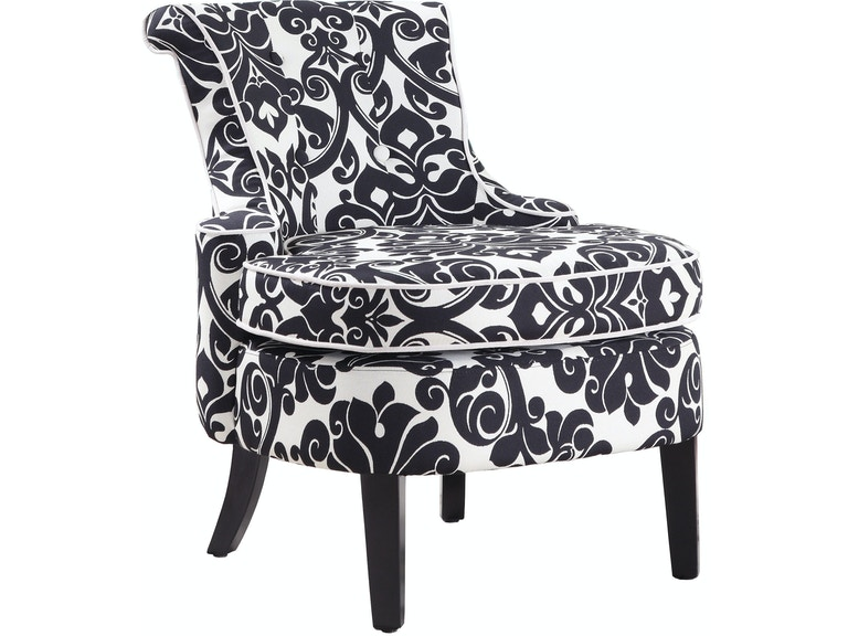 Powell Furniture Living Room Diana Swoop Back Cap Arm Accent Chair