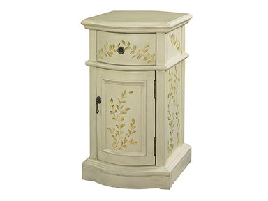 Powell Furniture White Chairside Cabinet 246-219