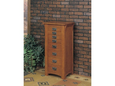Powell Furniture Mission Oak Jewelry Armoire 255