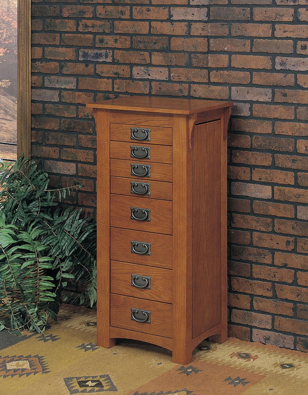Powell Furniture Mission Oak Jewelry Armoire 255