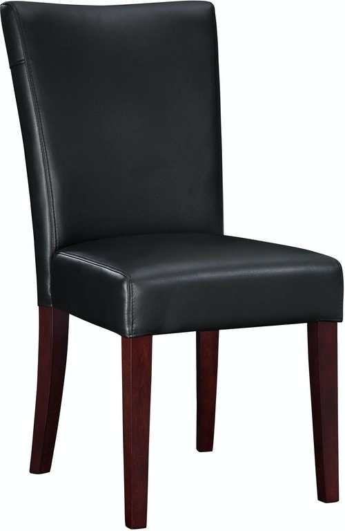 Powell Furniture Dining Room Black Bonded Leather Parsons