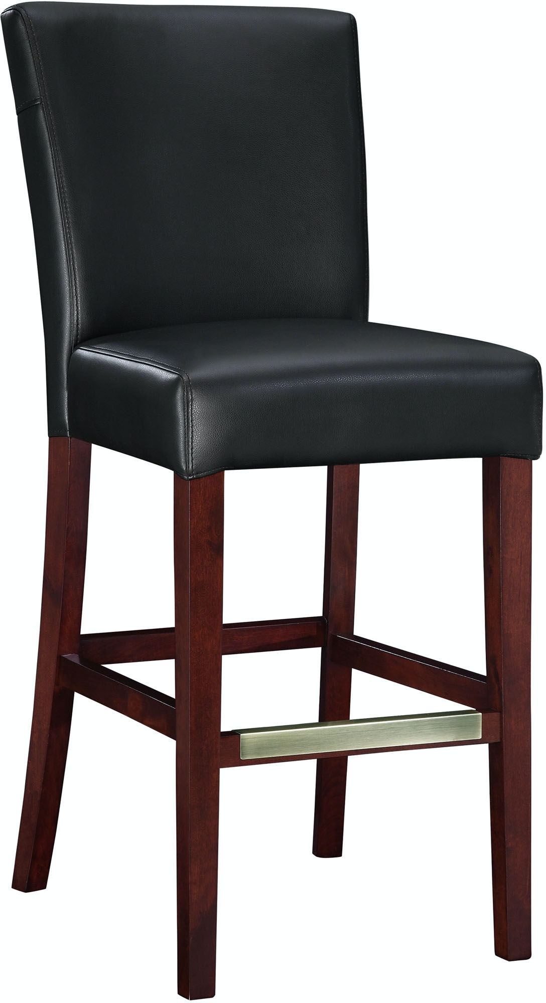 Powell Furniture Bar And Game Room Black Bonded Leather