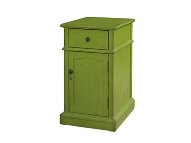 Powell Furniture Green Chairside Cabinet 333-219