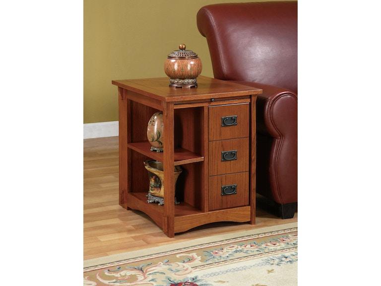 Powell Furniture Mission Oak Magazine Cabinet Table 356
