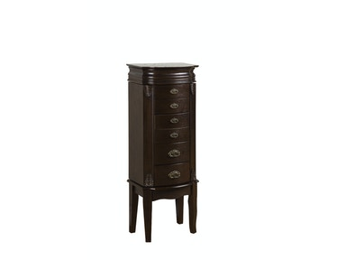 Powell Furniture Italian Influenced Transitional Espresso Jewelry Armoire 358-315