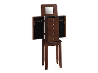 Powell Furniture Espresso Jewelry Armoire 373-788