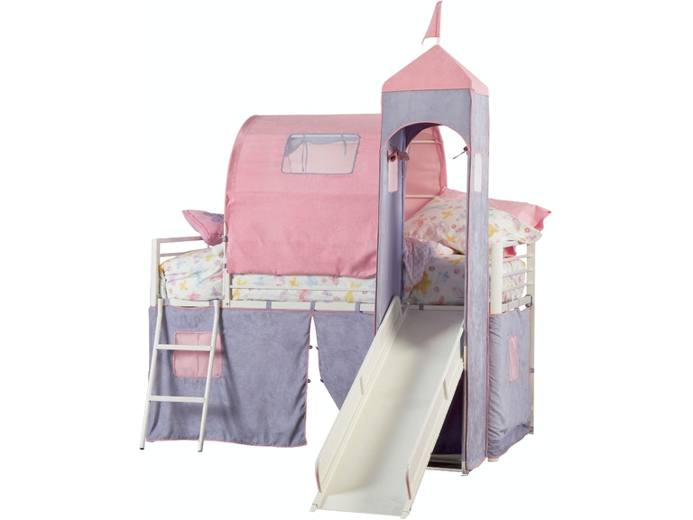Powell Furniture Princess Castle Twin Size Tent Bunk Bed With Slide 374 069
