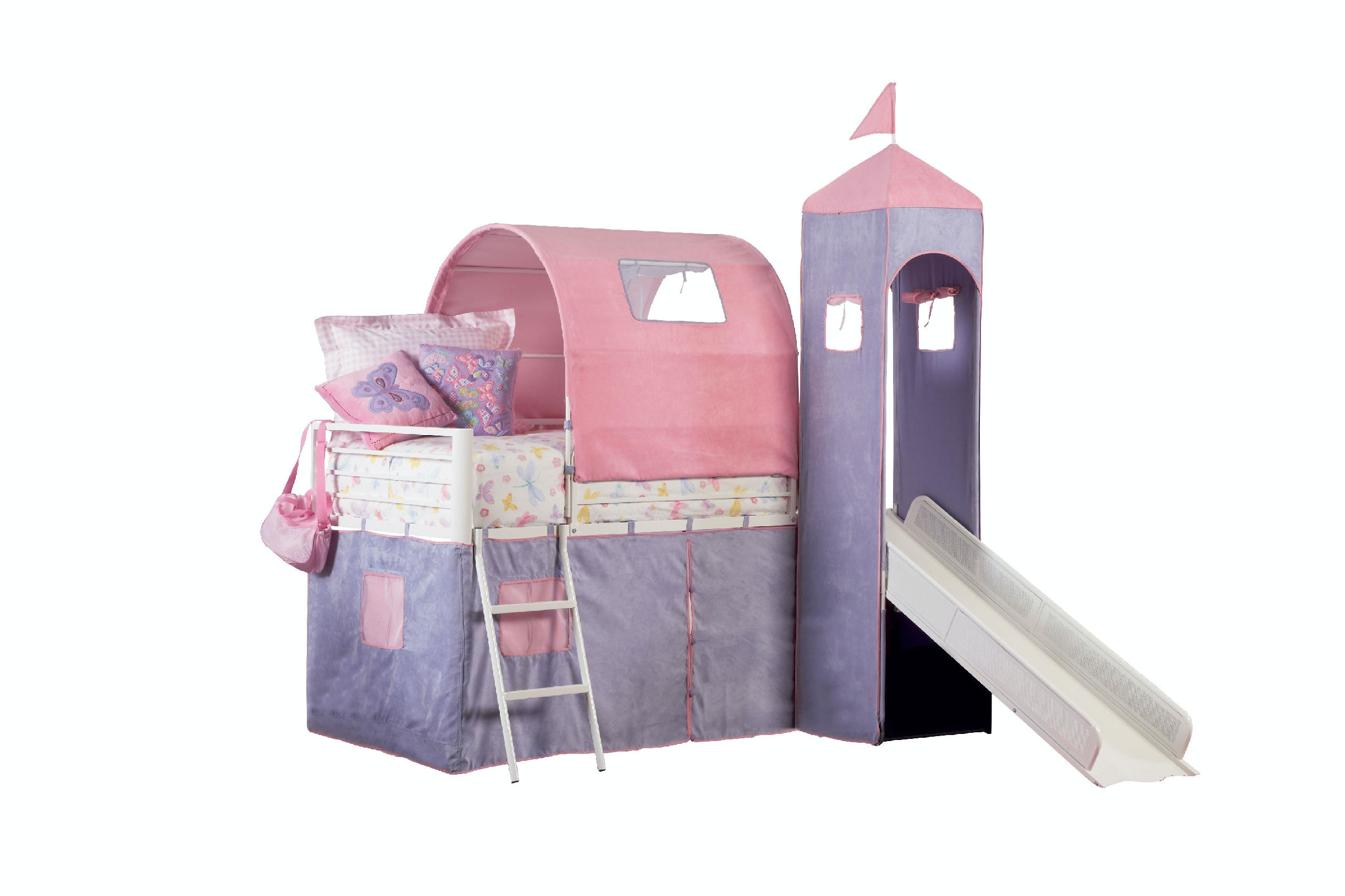 ... Powell Furniture Princess Castle Twin Size Tent Bunk Bed With Slide 374-069  sc 1 st  Osmond Designs & Youth Princess Castle Twin Size Tent Bunk Bed With Slide 374-069 ...