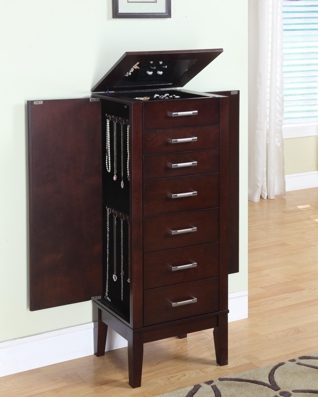 Powell Furniture Contemporary Dark Espresso Jewelry Armoire 383 317