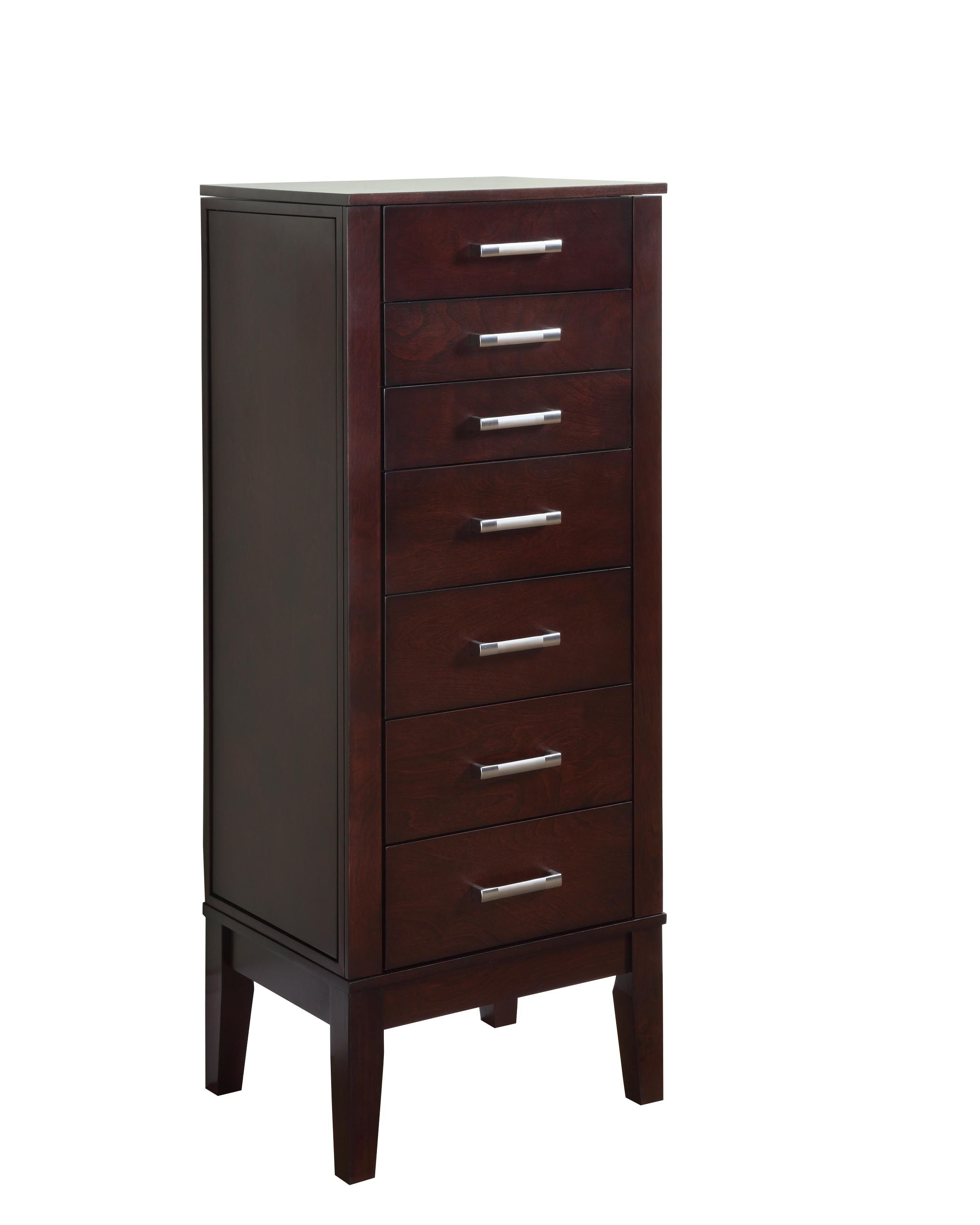 Powell Furniture Contemporary Dark Espresso Jewelry Armoire 383 317