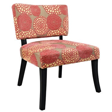Powell Furniture Pink Flower Armless Chair 383 623