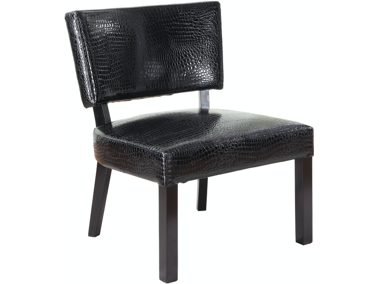 Powell Furniture Crocodile Print Faux Leather Accent Chair 383 630