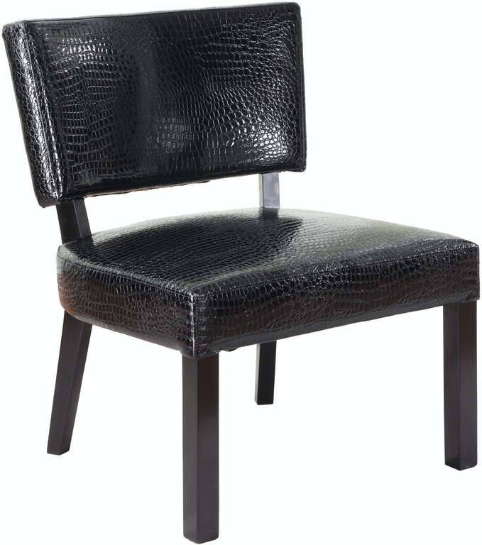 Powell Furniture Living Room Crocodile Print Faux Leather Accent Chair 383 630 Capperella