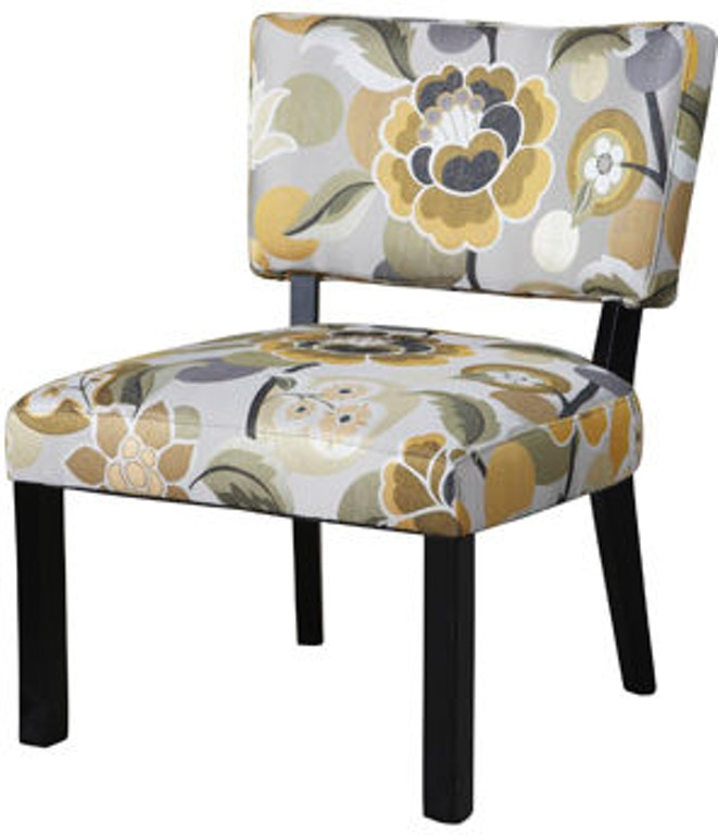 Powell Furniture Living Room Yellow And Gray Floral Accent ...