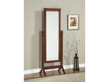Powell Furniture Accessories Contemporary Merlot Cheval Mirror Overpacked
