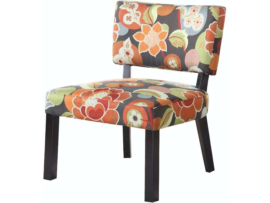Powell Furniture Living Room Bright Floral Print Accent Chair 383 936 Carol House Furniture